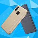 זול מגנים לטלפון & מגני מסך-מגן עבור Xiaomi Mi 8 / Mi 8 SE נפתח-נסגר / מזוגג כיסוי מלא אחיד קשיח עור PU ל Xiaomi Redmi S2 / Xiaomi Mi Mix 2S / Xiaomi Mi 8