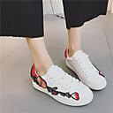 povoljno Ženske sandale-Žene PU Proljeće Udobne cipele Sneakers Ravna potpetica Crn / Crvena / Pink