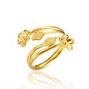 ieftine Coliere cu Pandativ-Pentru femei Inel deschis - Placat Auriu Floare Lux Ajustabil Auriu Pentru Cadou / Dată