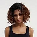 ieftine Peruci Păr Uman-Păr Remy Față din Dantelă Perucă Păr Brazilian Buclat Perucă Frizură în Straturi 130% Păr Ombre / Rădăcini Închise Castaniu Pentru femei Scurt Peruci Păr Uman
