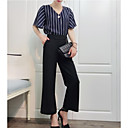 cheap Women's Flats-Women's Sophisticated Blouse - Solid Colored / Striped, Print Pant