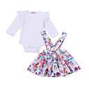 ieftine Set Îmbrăcăminte Bebeluși-Bebelus Fete Activ Imprimeu Manșon Lung Lung Bumbac Set Îmbrăcăminte