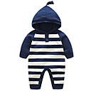 ieftine Set Îmbrăcăminte Băieți Bebeluși-Bebelus Unisex De Bază Dungi Manșon Lung Poliester O - piesă Albastru piscină 90 / Copil