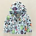 ieftine Îmbrăcăminte Bebeluși-Bebelus Fete De Bază Zilnic Pisica Imprimeu Imprimeu Manșon Lung Regular Bumbac / Poliester Jachetă & Haină Roz Îmbujorat / Copil