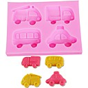 cheap Bakeware-DIY Car Silicone Mold Fondant Chocolate Biscuit Candy Baking Mould