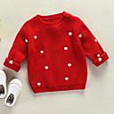 povoljno Jakne i kaputi za djevojčice-Djeca Djevojčice Print Dugih rukava Džemper i kardigan