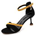 povoljno Ženske sandale-Žene Cipele Brušena koža Ljeto D'Orsay cipele Sandale Stiletto potpetica Okrugli Toe Štras Crn / Bijela / Tamno zelena / Zabava i večer