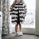 cheap Girls' Jackets & Coats-Kids Girls' Striped Long Sleeve Jacket & Coat