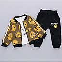 ieftine Set Îmbrăcăminte Băieți Bebeluși-Bebelus Băieți De Bază Zilnic Imprimeu Manșon Lung Regular Bumbac Set Îmbrăcăminte Trifoi 100 / Copil