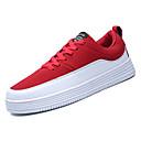 povoljno Muške tenisice-Muškarci PU Jesen Udobne cipele Sneakers Color block Crn / Crvena / Plava