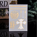 abordables Tatuajes Temporales-Trustfire Pegatina tatuaje Cuerpo / manos / brazo Los tatuajes temporales 1 pcs Series de Tótem Oro Mini Estilo / Ecológica / Desechable Artes de cuerpo Diario