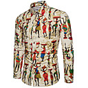 billige Herreringer-Skjorte Herre - Geometrisk, Trykt mønster