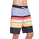 זול טבעות לגברים-SBART בגדי ריקוד גברים מכנסי שורט בגדי ים עמיד למים, ייבוש מהיר, לביש פוליאסטר / ספנדקס בגדי ים ביגוד חוף מכנסי גלישה פס גלישה / חוף / סטרצ'י (נמתח) / נושם / נושם