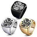 cheap Men's Rings-Men's Hollow 3D Band Ring Ring - Titanium Steel, Silver Plated, Stainless Bird, Animal Stylish, Punk, Trendy 7 / 8 / 9 / 10 / 11 Gold / Black / Silver For Club Bar