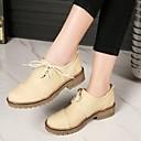 זול נעלי אוקספורד לנשים-בגדי ריקוד נשים PU אביב / קיץ נוחות נעלי אוקספורד עקב עבה בוהן סגורה שחור / בז' / ירוק
