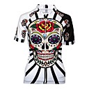 cheap Cycling Jerseys-21Grams Women's Cycling Jersey Black Red / White Skull Plus Size Bike Jersey Breathable Quick Dry Anatomic Design Sports 100% Polyester Mountain Bike MTB Road Bike Cycling Clothing Apparel