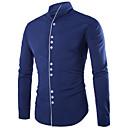 זול חולצות לגברים-אחיד רזה חולצה - בגדי ריקוד גברים / עומד / שרוול ארוך