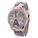 preiswerte Modische Uhren-Damen Armbanduhr Quartz Schwarz / Weiß / Blau Armbanduhren für den Alltag Analog damas Eiffelturm Modisch - Rot Blau Rosa