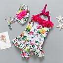tanie Zestawy ubrań dla dziewczynek-Dzieci / Brzdąc Dla dziewczynek Plaża Kwiaty Odzież kąpielowa