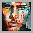 cheap Rolled Canvas Paintings-Oil Painting Hand Painted - People Modern Rolled Canvas