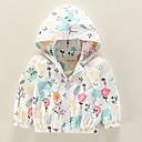 ieftine Îmbrăcăminte Bebeluși-Bebelus Fete Activ Zilnic Floral Imprimeu Manșon Lung Regular Poliester Jachetă & Haină Alb / Copil