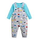 povoljno Kompletići za Za dječake bebe-Dijete Dječaci Osnovni Dnevno Print Print Dugih rukava Regularna Pamuk Komplet odjeće Plava 90 / Dijete koje je tek prohodalo