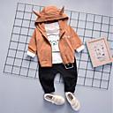 ieftine Set Îmbrăcăminte Băieți Bebeluși-Bebelus Băieți Casual / De Bază Zilnic / Sport Imprimeu Imprimeu Manșon Lung Regular Regular Bumbac Set Îmbrăcăminte Trifoi 100 / Copil