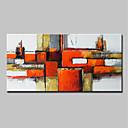 preiswerte Abstrakte Gemälde-Hang-Ölgemälde Handgemalte - Abstrakt Pop - Art Klassisch Modern Ohne Innenrahmen / Gerollte Leinwand