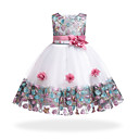 cheap Girls' Dresses-Kids Girls' Floral / Patchwork Sleeveless Dress