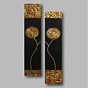 tanie Wydruki-Hang-Malowane obraz olejny Ręcznie malowane - Kwiatowy / Roślinny Nowoczesne Naciągnięte płótka / Rozciągnięte płótno