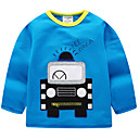tanie Spodnie dla chłopców-Dzieci Dla chłopców Podstawowy Solidne kolory Długi rękaw Poliester T-shirt Jasnoniebieski 100