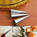 baratos Acessórios de Limpeza de Cozinha-Ferramentas bakeware Aço Inoxidável Faça Você Mesmo Pão / para Candy Moldes de bolos / Ferramentas para Forno e Pastelaria 3pçs