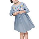 olcso Lány ruhák-Gyerekek Lány Egyszínű Féhosszú Ruha