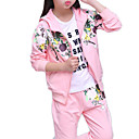 cheap Girls' Clothing Sets-Kids Girls' Basic Floral Long Sleeve Clothing Set