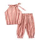 ieftine Pantaloni Fete & Leginși-Copil Fete De Bază Mată Fără manșon Set Îmbrăcăminte