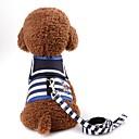 baratos Acessórios para Pequenos Animais-Roedores / Cachorros / Gatos Arreios / Trelas Portátil / Mini / Caminhada Riscas Terylene Vermelho / Azul marinho