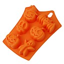 cheap Wine Accessories-Halloween Pumpkin Cake Mold 6 Cavities Ghost Bat Cake Mold DIY Chocolate Decorating Tools