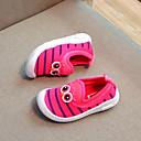 זול נעלי ילדות-בנות נעליים סריגה / PU אביב קיץ נוחות נעליים ללא שרוכים הליכה ל פעוטות שחור / פוקסיה / כחול