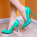 cheap Human Hair Capless Wigs-Women's Patent Leather Spring Comfort Heels Stiletto Heel Red / Green / Blue / Daily