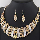 cheap Bakeware-Women's Thick Chain Jewelry Set - Stylish, Classic Include Drop Earrings Collar Necklace Rainbow / Red / Champagne For Wedding Party