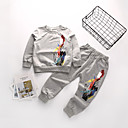 tanie Zestawy ubrań dla chłopców-Dzieci Dla chłopców Moda miejska Nadruk Długi rękaw Bawełna Komplet odzieży