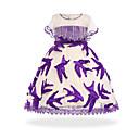 ieftine Seturi Îmbrăcăminte Fete-Copii Fete De Bază / Dulce Petrecere / Ieșire Peteci Fără manșon Lungime Genunchi Rochie / Bumbac