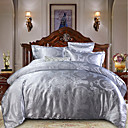 cheap High Quality Duvet Covers-Duvet Cover Sets Luxury Polyster Jacquard 4 PieceBedding Sets / 300 / 4pcs (1 Duvet Cover, 1 Flat Sheet, 2 Shams)