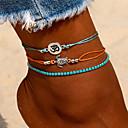 povoljno Ukrasi na tijelu-Žene Gležanj Narukvica nakit za noge Više slojeva Kornjača dame Boemski stil Moda Šarene Smola Kratka čarapa Jewelry Plava Za Izlasci Bikini