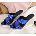 cheap Women's Athletic Shoes-Women's Synthetics Summer Comfort Sandals Wedge Heel Silver / Blue / Pink