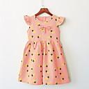 preiswerte Kleider für Babys-Baby Mädchen Grundlegend Alltag Frucht Druck Kurzarm Standard Standard Übers Knie Baumwolle Kleid Weiß