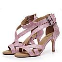 cheap Necklaces-Women's Latin Shoes Cowhide Heel Slim High Heel Dance Shoes Black / Pink / Black / White