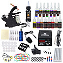 cheap Starter Tattoo Kits-DRAGONHAWK Tattoo Machine Starter Kit - 1 pcs Tattoo Machines with 15*5 ml tattoo inks, All in One, Safety, Easy to Setup Alloy LCD power supply Case Not Included 1 alloy machine liner & shader