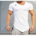 abordables Tops, Pantalones & Short para Correr-Hombre Escote en Pico Básico Camiseta interior - Negro, Rojo, Azul Marino Oscuro Deportes Top Rutina de ejercicio Ropa de Deporte Compresión Microelástico
