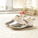 זול נעלי ילדות-בנות נעליים PU קיץ & אביב נוחות שטוחות פפיון ל ילדים זהב / כסף / ורוד